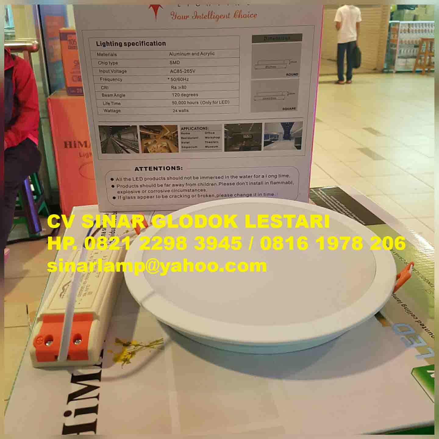Lampu Downlight LED 24 watt