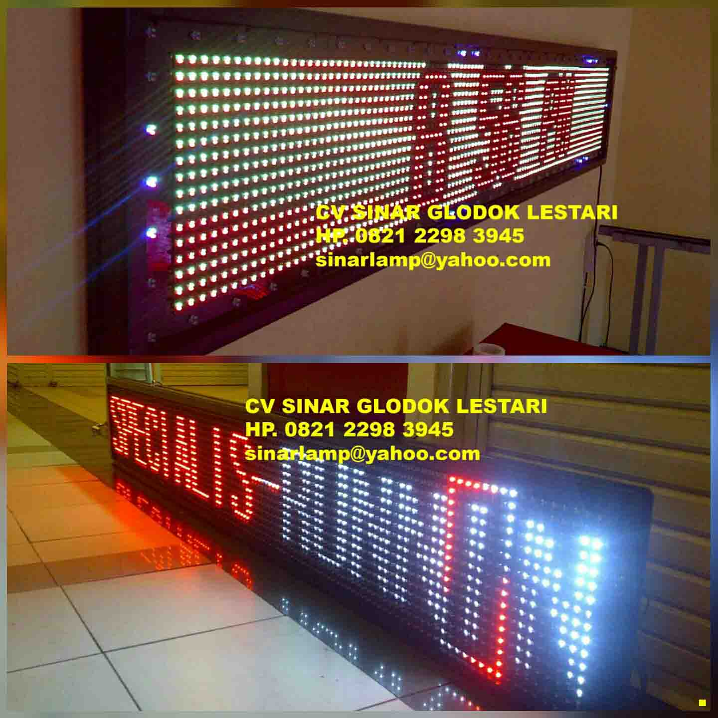 Running Text Outdoor 3 warna
