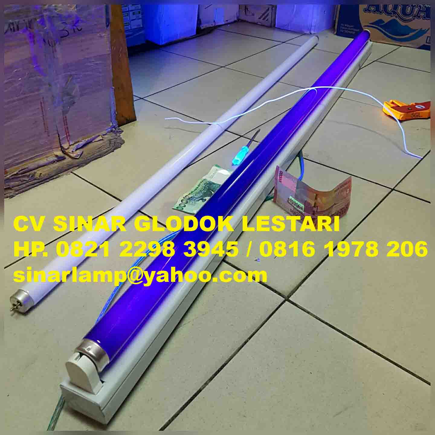 Lampu UV Blacklight Blue 40 watt + Kap Lampu
