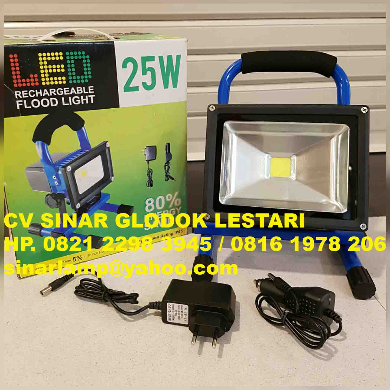 Lampu Sorot LED Portable Rechargeable 25 Watt