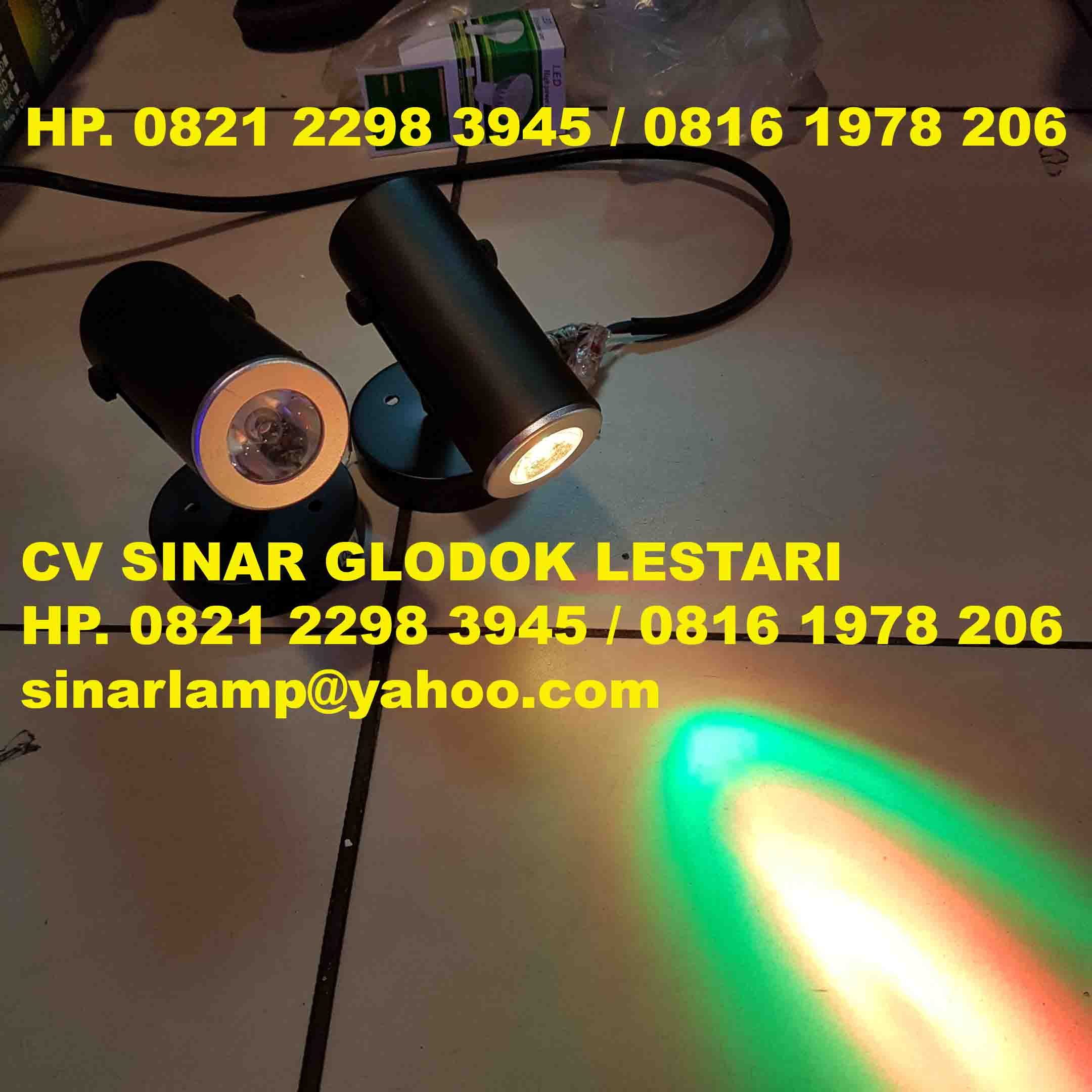 Lampu Sorot LED RGB Spotlight E27 With Remote Control