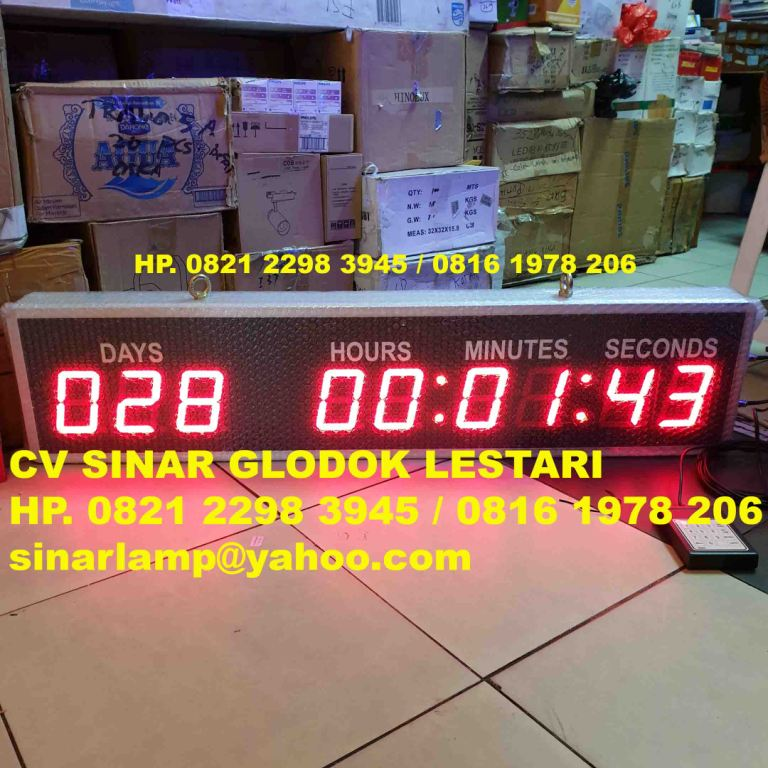 Countdown Menghitung Hari Days Hours 9D 4inch