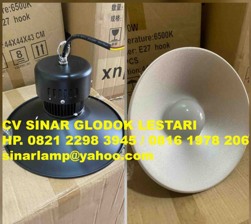 Lampu Gantung Industri LED High Bay Hitam