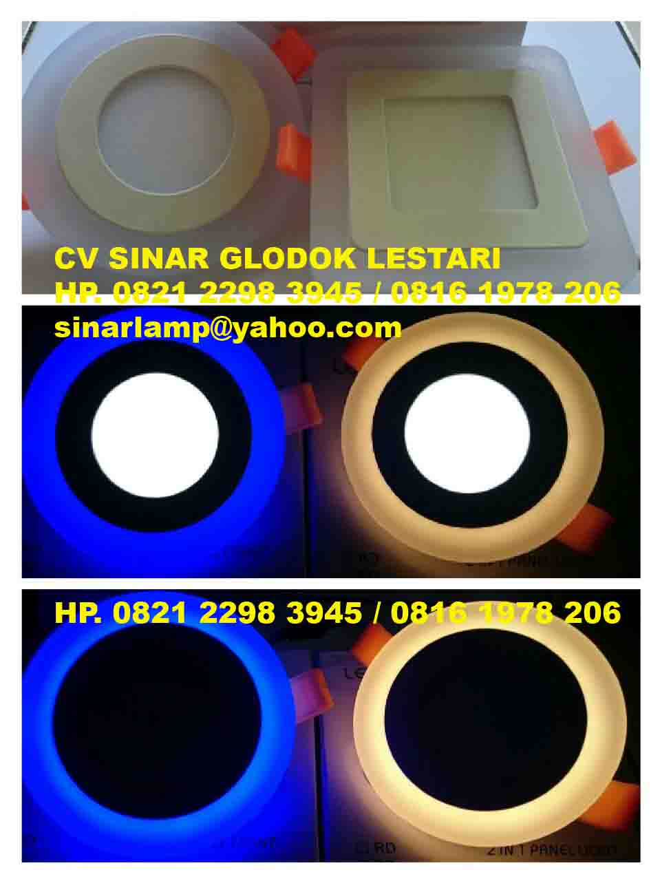Lampu Downlight LED Double Color