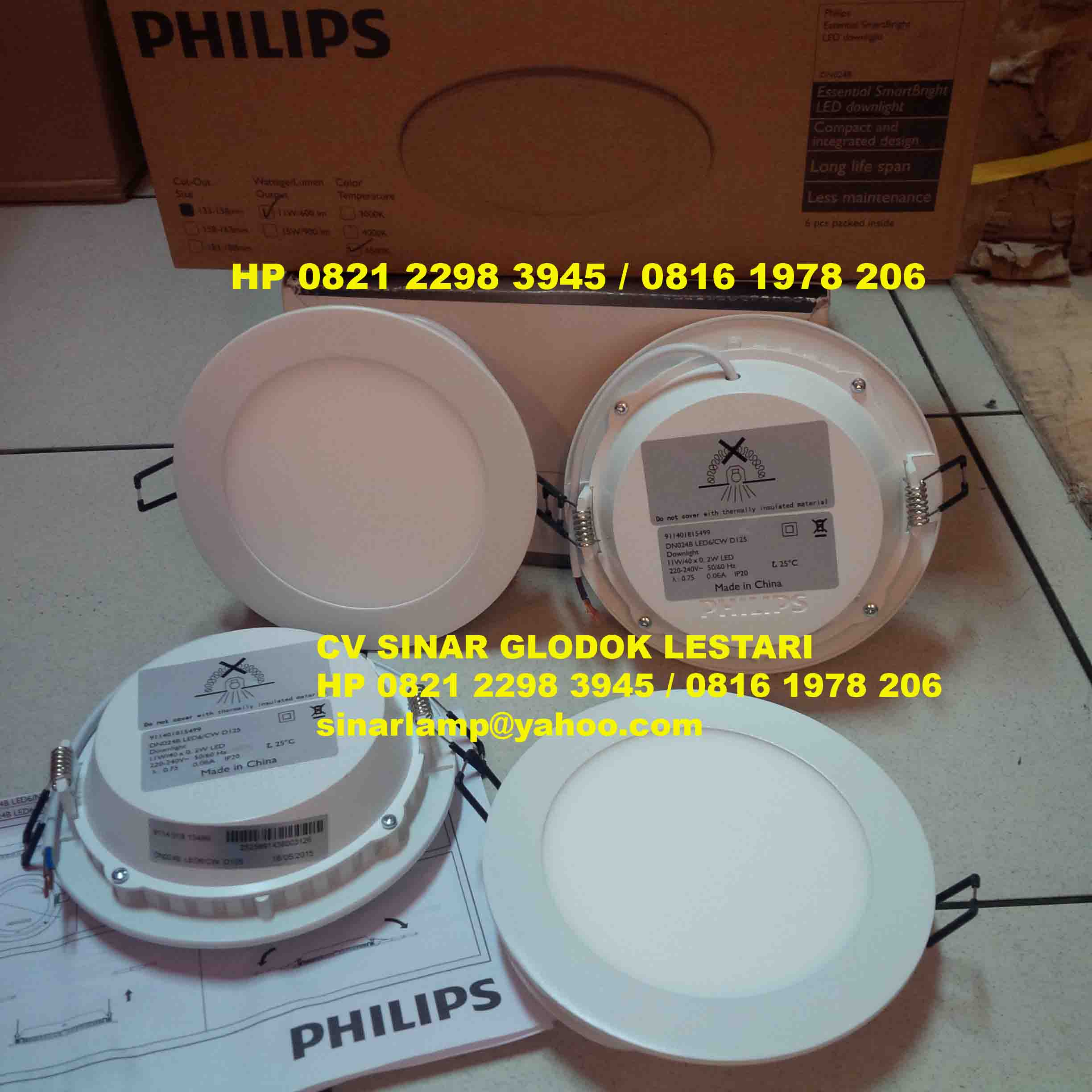 Lampu PHILIPS Essential Smartbright Downlight LED DN024B 11W