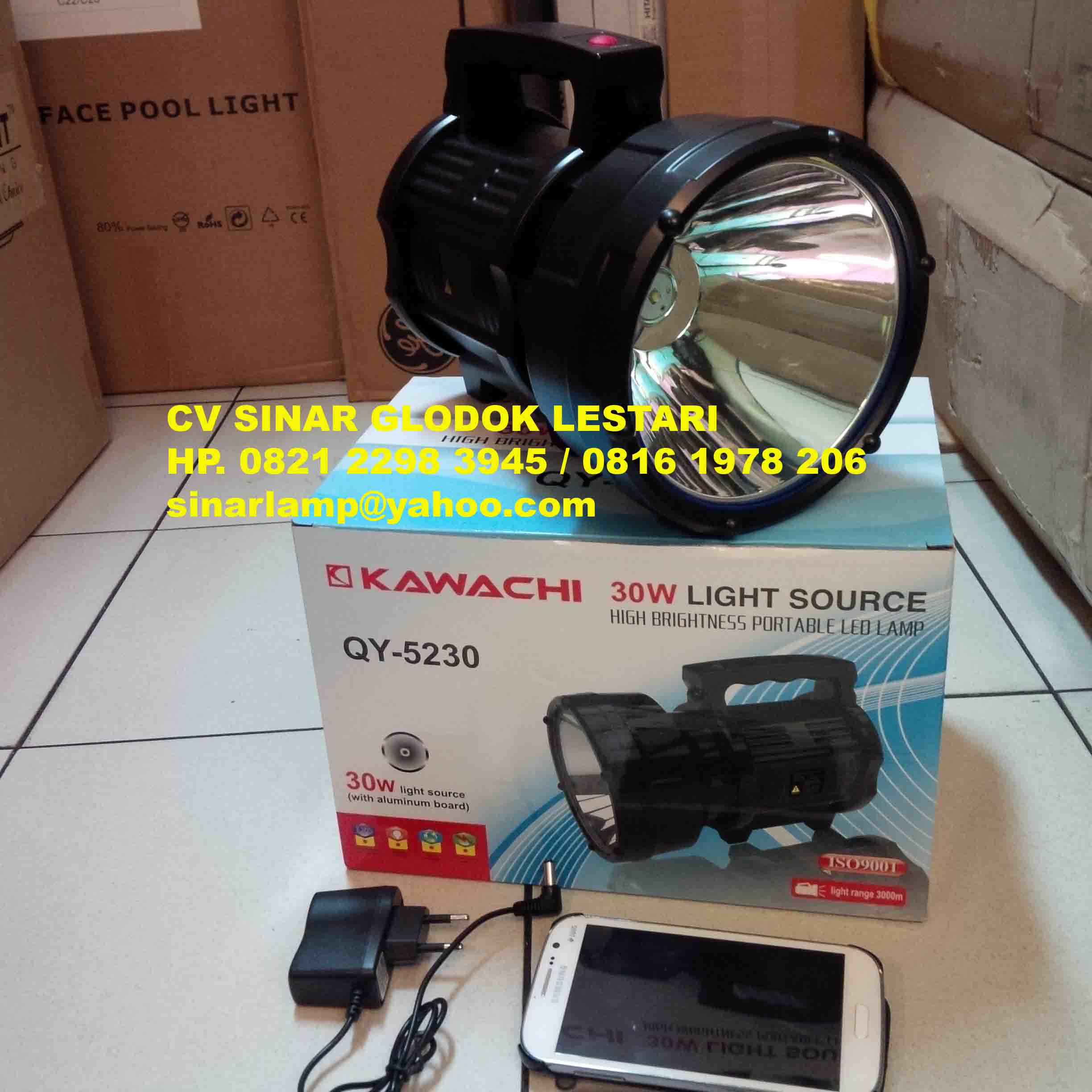 Senter Led Rechargeable 30W QY-5230 KAWACHI