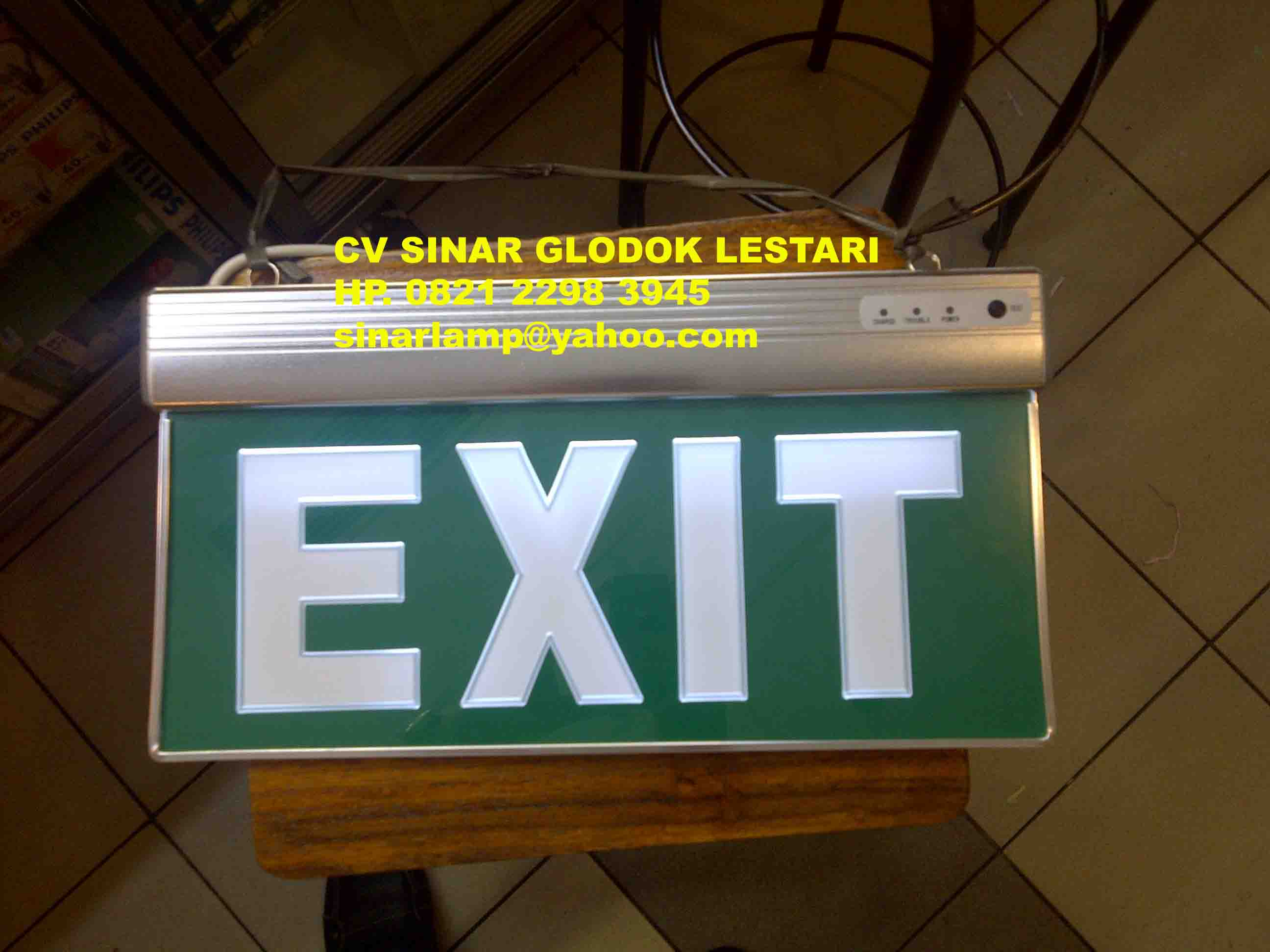 Lampu Emergency EXIT - Results from #30