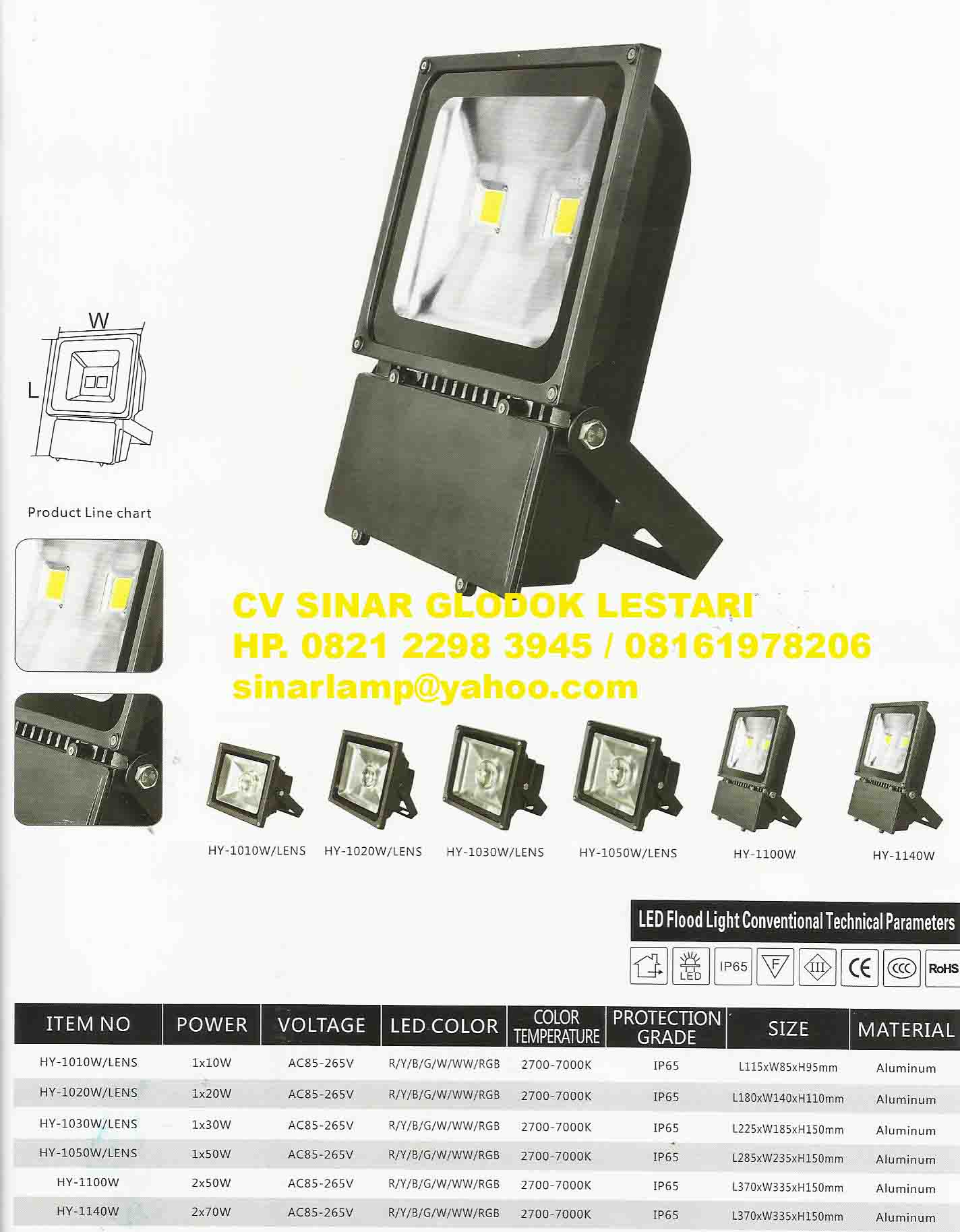 Lampu Sorot Led High Premium LED Floodlight