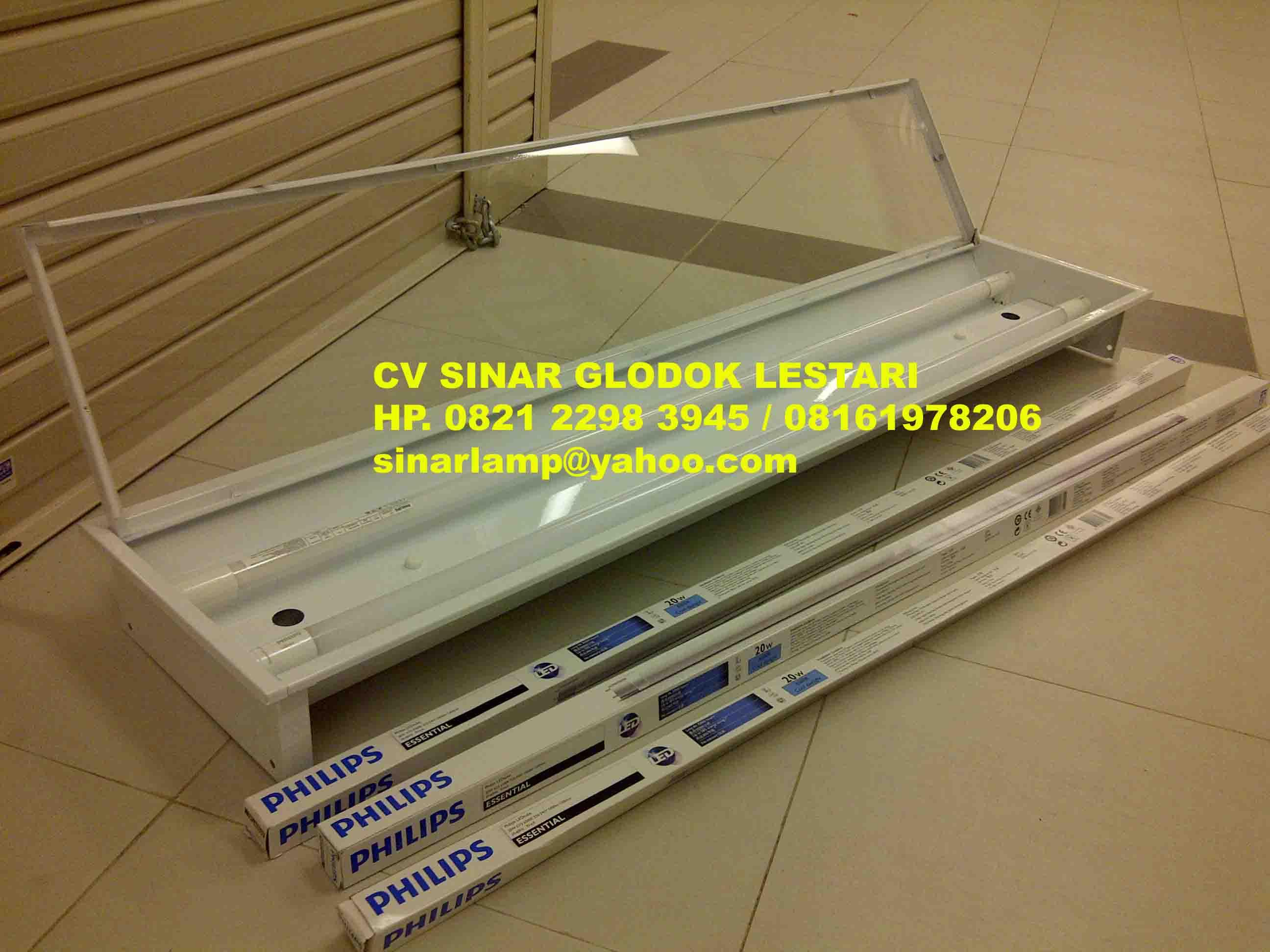 Lampu TKI Cover Acrylic Bening TL LED 2 X 20W Essensial