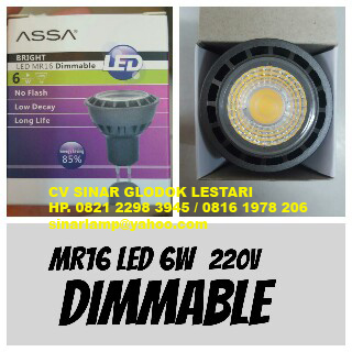 Lampu LED Dimmable 6W MR16 ASSA