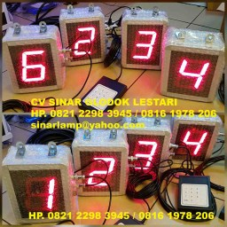 Lampu Display Digital Antrian