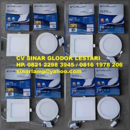 Lampu downlight led 6w 9w dan 12w Starlux