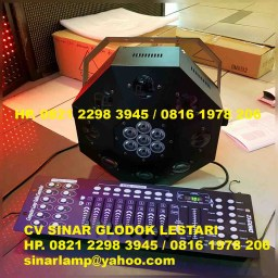 Lampu panggung led dance floor light + mixer lighting dmx 512