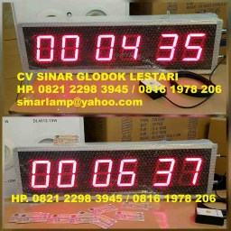 Lampu display digital timer up sistem program