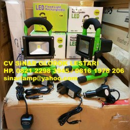 Lampu Sorot Portable LED 10W Recharge