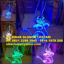 Lampu Led Strip RGB 5050 IP65 50m 220v