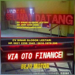 LED Display Running Text Outdoor