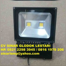Lampu Sorot Led 2x50 watt Body Hitam