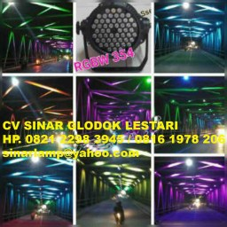 Lampu PAR LED 54 Outdoor RGB Warna Warni