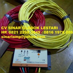 Kabel Solar Cell dan Solar Charge Controller