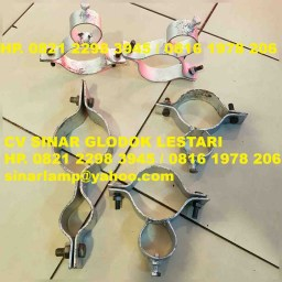 Klem Ornamen Tiang PJU Model Optic dan Standart Umum