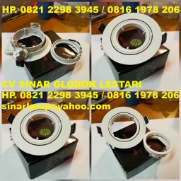 Downlight Halogen LED MR16 Easy Maintain Buka Tutup Depan