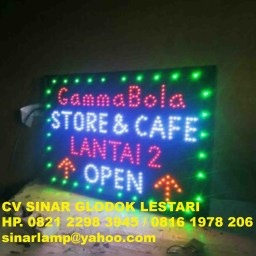 Lampu Reklame LED Sign 60cm x 40cm