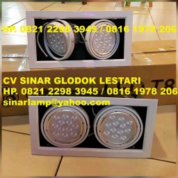 Lampu Downlight LED 12W x 2 Adjustable