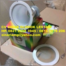 Downlight 5 inch List Putih Kaca Zetalux DL-882