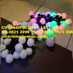 Lampu Hias LED Bola Pingpong Outdoor