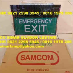 Emergency Exit Lamp Samcom
