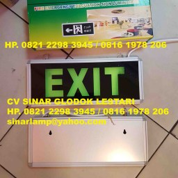 Emergency Exit Lamp Single Side Tempel Dinding