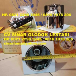 Kap Lampu Downlight Kotak 5 inch Fitting Tegak E27