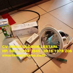 Downlight Artolite Lampu Essential 18w + Emergency Powerpack Battery