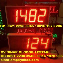 Lampu Digital Count Up 4 Digit 8 inch