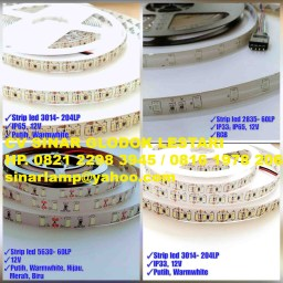 Lampu LED Strip 12V 3014-204LP IP65-IP33 dan 2835-60LP IP33-IP65 dan 5630-60LP