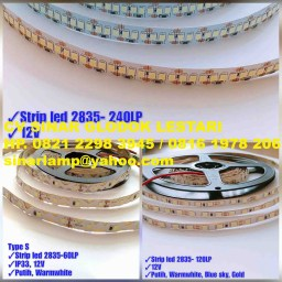 Lampu LED Strip 2835 12v 240LP 60LP dan 120LP