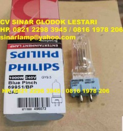 Lampu Halogen 1000W 240V Blue Pinch 69951 Philips Broadway Entertainment Lamp