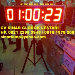 Lampu Display 3 in 1 dengan 3 Fungsi Jam Stopwatch dan Countdown