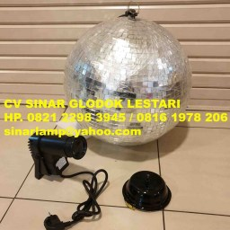 Mirror Ball 16inch + Pinspot Light + Motor