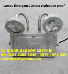 Lampu Emergency Explosion Proof Twin Lamp Mata Kucing