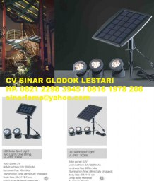 Lampu LED Solar Spot Light Tenaga Surya