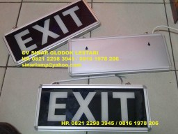 Emergency Exit LED 3W Single Side Tempel Dinding