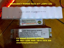 Emergency Power Pack Kit Lampu LED