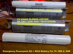 Emergency Powerpack Kit + NiCd Battery PowerCraft TL 18W - 36W