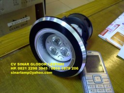 Downlight E27 + Lampu LED 3W