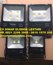 Lampu Sorot LED Yestar 50w 100w 150w dan 200w Chip Bridgelux IP67