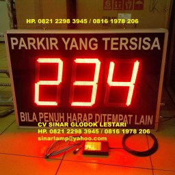 Lampu LED Display Parkir