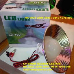 Lampu Led Industri 6W 12V Fitting Jepit
