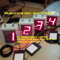 Lampu seven segment display angka